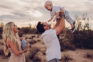 family of four desert session